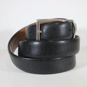 Allen Edmonds Black Men's Leather Belt Made in USA